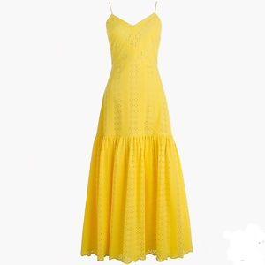 J. Crew Tiered Spaghetti Strap Midi Dress